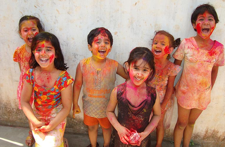 Celebrating the festival of Holi